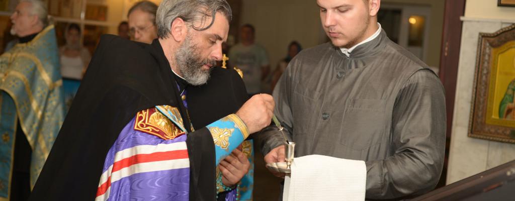 Владыка Николай совершил утреню с чтением акафиста Божией Матери пред Её иконою «Табынская»